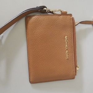Michael Kors Mercer leather ID/coin wallet